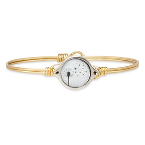 Luca + Danni Brass Tone Make a Wish Dandelion Bangle