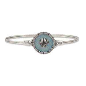 Luca + Danni Silver Tone Shell Isla Bangle