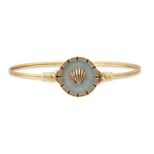 Luca + Danni Brass Tone Shell Isla Bangle