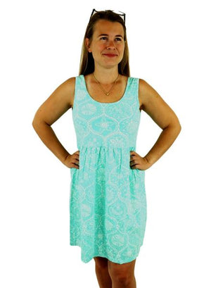 iCantoo Seafoam Santa Barbara Cotton Babydoll Dress