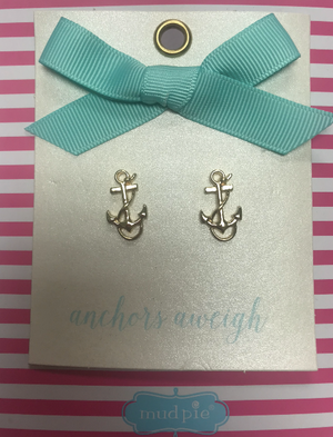 MudPie Anchor Earrings
