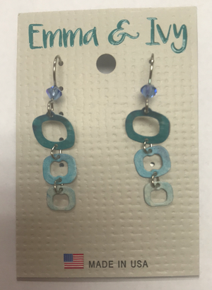 Emma & Ivy Blue Square Earrings