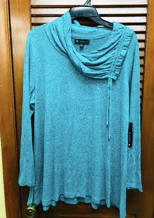 N Touch Teal Drawstring Top