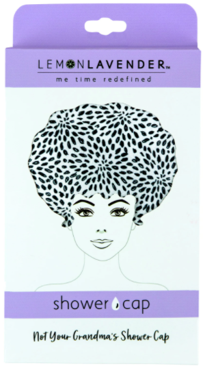 Lemon Lavender Speckled Shower Cap