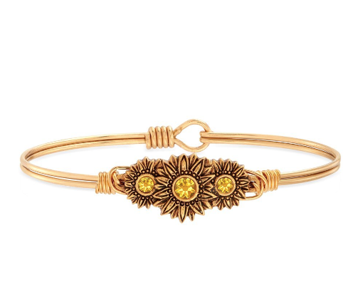 Sunflowers Bangle - Luca + Danni - Brass
