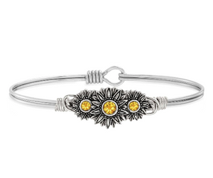 Sunflowers Bangle - Luca + Danni - Silver