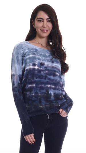 River + Sky Long Sleeve Tie Dye-London