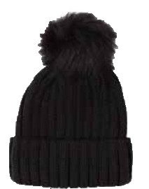 Top It Off Pom Beanie-Black