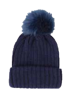 Top It Off Pom Beanie-Navy