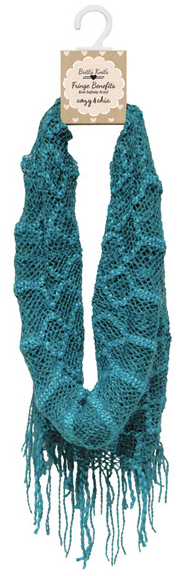 Britt's Knit Fringe Benefits Scarf-Teal