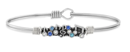 Luca + Danni Music Medley Bangle-Silver
