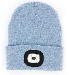 Night Scout Rechargeable LED Beanie-Light Blue