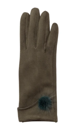 Top It Off Jackie Gloves-Olive
