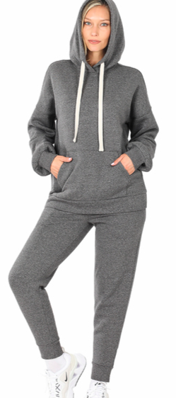 Hoodie and Jogger Set-Charcoal