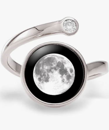 Moonglow Cosmic Spiral Ring