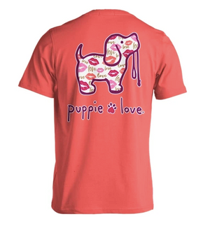 Puppie Love-Love and Kisses Pup Short Sleeve Tee