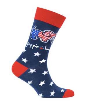 Puppie Love-USA Pup Crew Socks