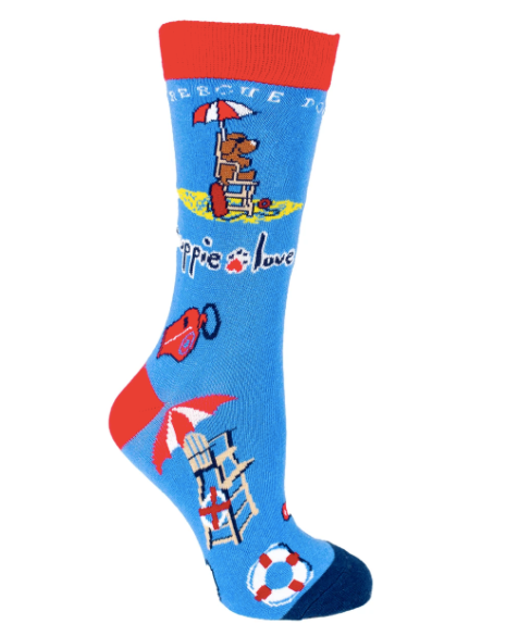 Puppie Love-Rescue Pup Crew Socks