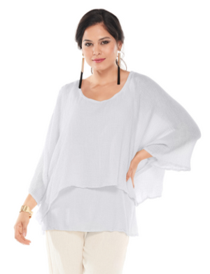 Oh My Gauze Twins Blouse-Snow