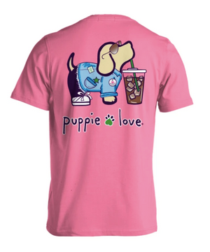 Puppie Love Iced Coffee Pup Tee