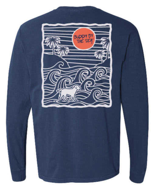 Buddy by the Sea-Pacific Wave Long Sleeve