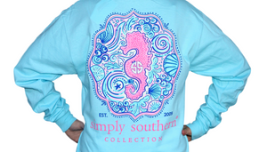 Simply Southern Sea Horse Long Sleeve T-Shirt