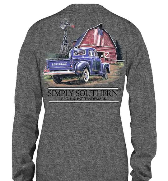 Simply Southern Guys Truck Long Sleeve T-Shirt