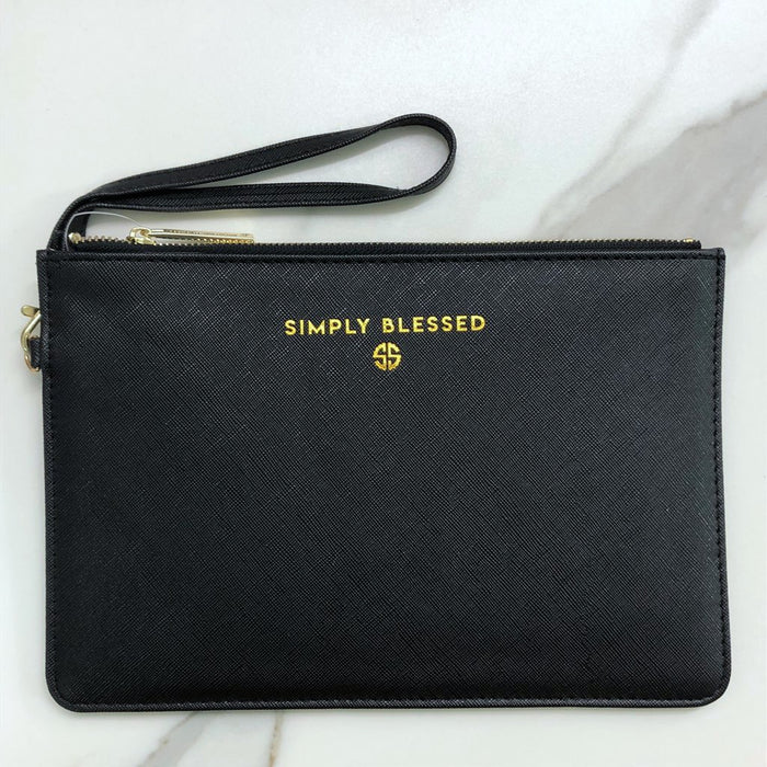 Simply Southern Simply Blessed Vegan Leather Clutch