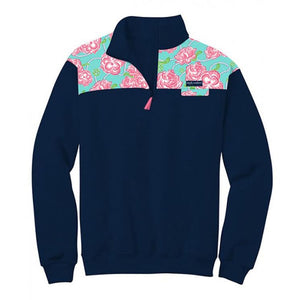 Simply Southern Navy Roses Pullover