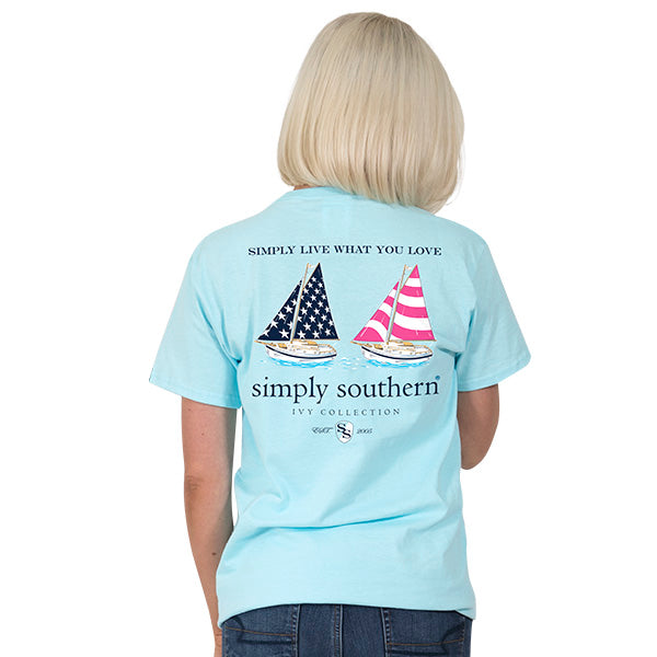 Simply Southern Preppy Boat T-shirt
