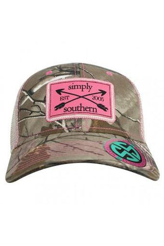 Simply Southern Pink and Camo Trucker Hat