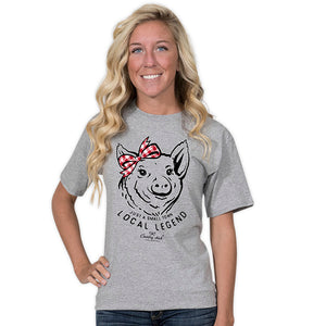 Simply Southern Country Chick Pig T-shirt
