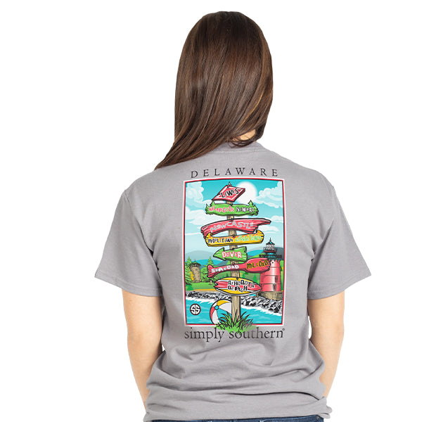 Simply Southern Delaware T-shirt 2019 Summer