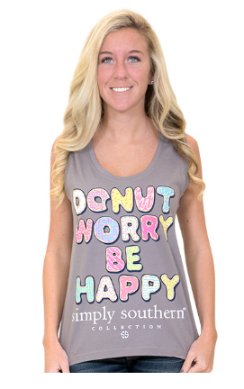Simply Southern Donut Grey Tank Top