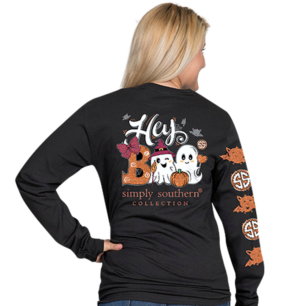 simply southern hey boo long sleeve t shirt blooming boutique