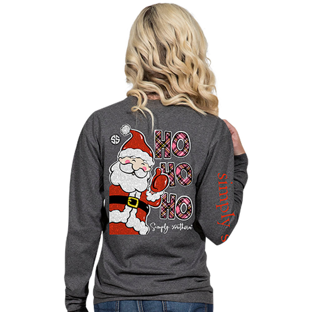 Simply Southern Ho Ho Ho Long Sleeve T-Shirt