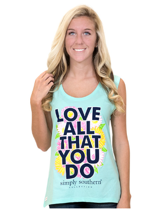 Simply Southern Let All You Do Tank Top