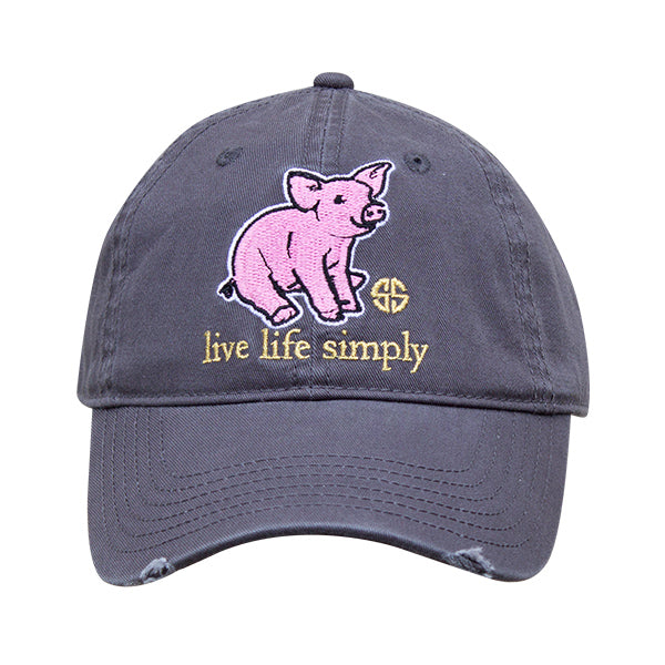 Simply Southern Distressed Piglet Hat