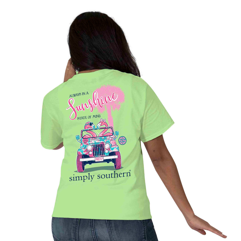Simply Southern Preppy Flamingo T-shirt