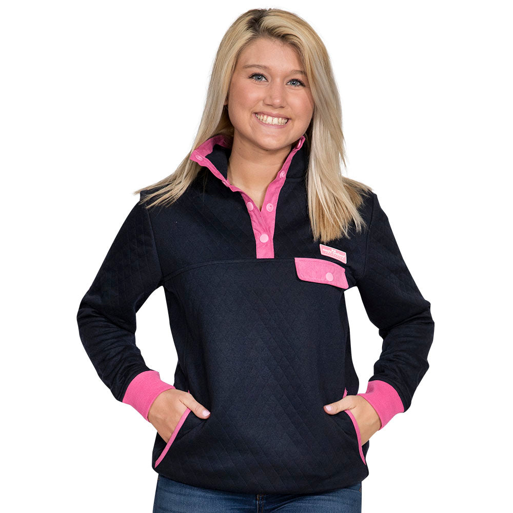 5fc74fa6254 Simply Southern Navy Quilt Pullover – Blooming Boutique