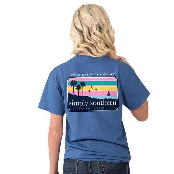 Simply Southern Beach Scene T-shirt