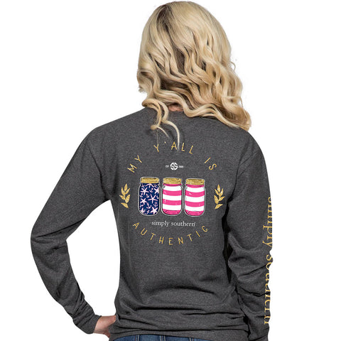 Simply Southern America Long Sleeve T-Shirt