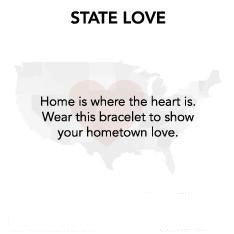 State Love Virginia Bangle Luca + Danni