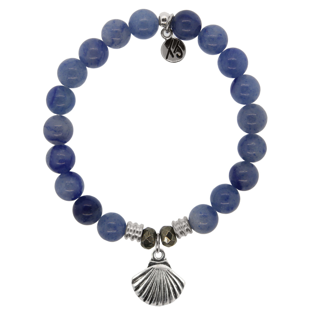T. Jazelle Blue Adventurine Sea Shell Bracelet
