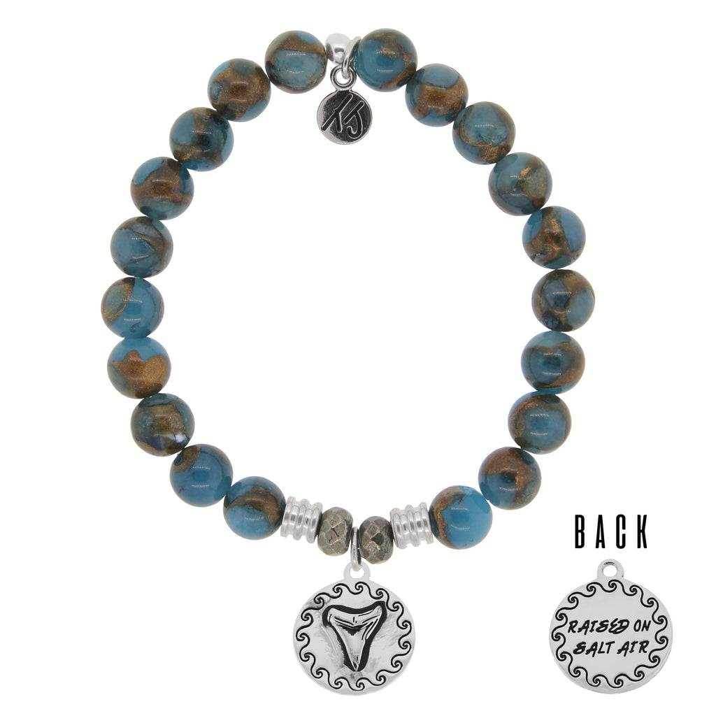 T. Jazelle Earth Agate Sharktooth Cast Bracelet