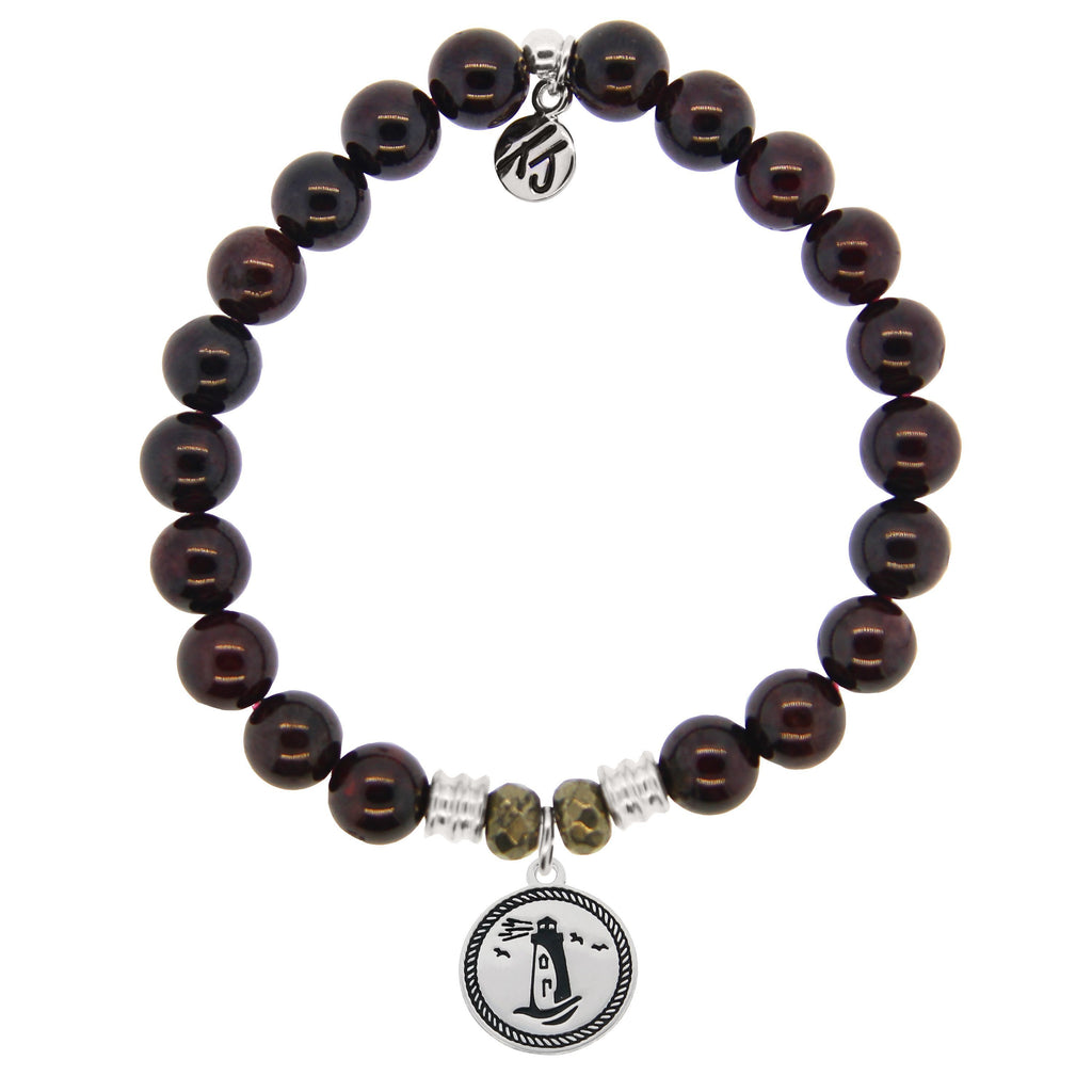 T. Jazelle Garnet Lighthouse Bracelet