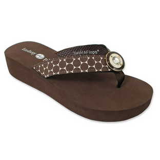 Lindsay Phillips Taylor Brown Flip Flop