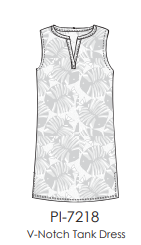 Sun Moda V-Notch Tank Dress:  Poolside