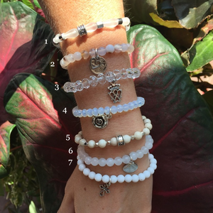 KINfolk Delaware White chavez for charity bracelets