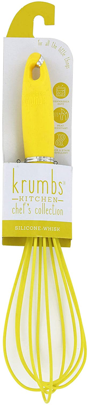 Krumbs' Kitchen Silicone Whisk-Yellow